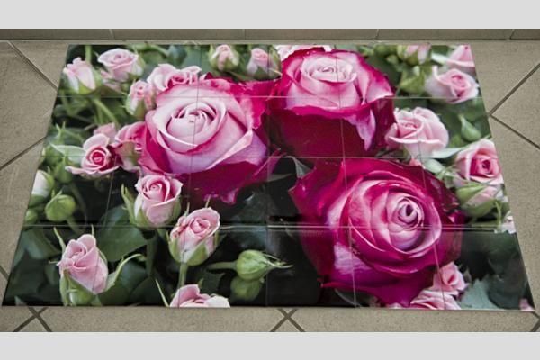 90x60 cm-es fotócsempe 15x15 cm-es csempékből